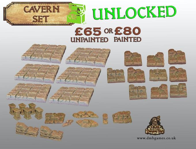 Stretch Goal 2: £2,000 – Cavern Core Set – UNLOCKED!