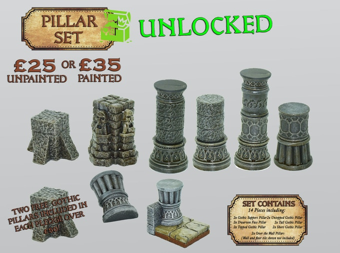 Stretch Goal 4: £3,000 – Pillar Accessory Set – UNLOCKED!