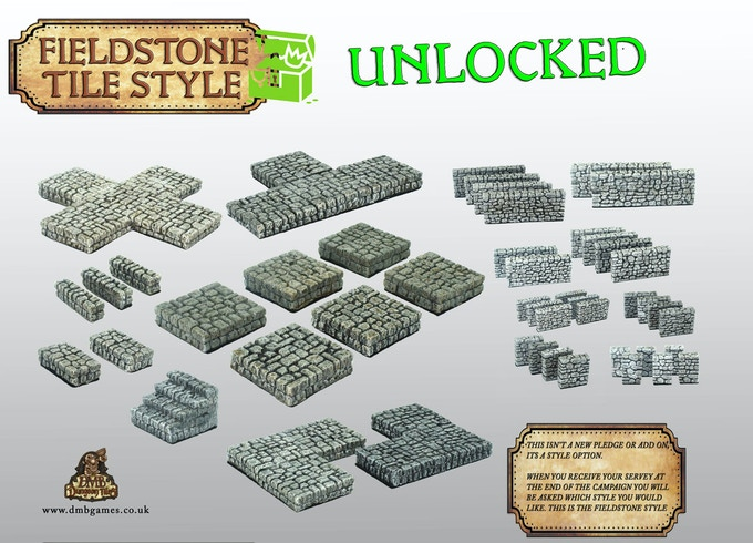Stretch Goal 5: £3,500 – Fieldstone Wall and Floor Tile Style  – UNLOCKED!
