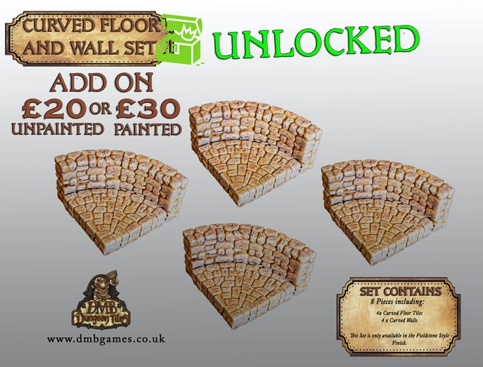 Stretch Goal 8: £5,000 – Curved Floor and Wall Tile Set – UNLOCKED!