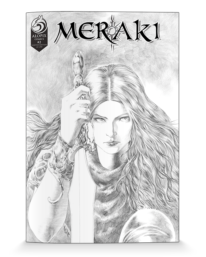 MERAKI #2 Variant Cover created by Alan Quah