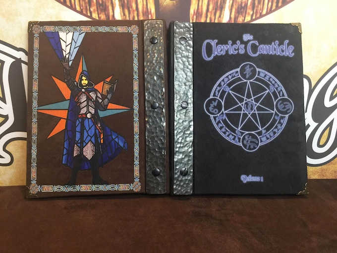 Spell Book Covers (Stained Glass colors changed to red and grey)