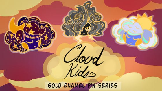 Cloud Kids enamel pin set