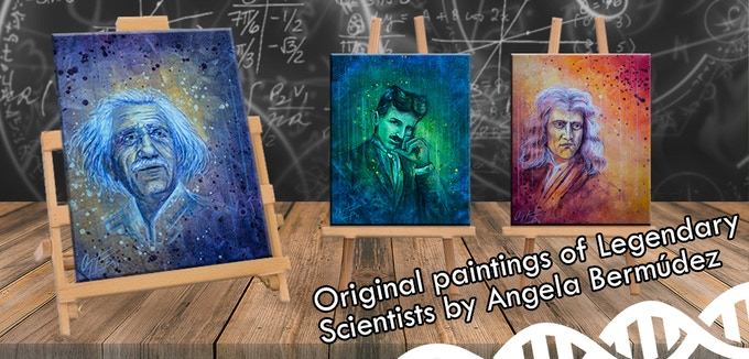 $200: Original science Hall-of-Famer portraits by Angela Bermúdez