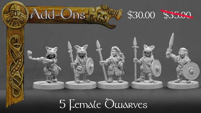 Female Dwarves set 1