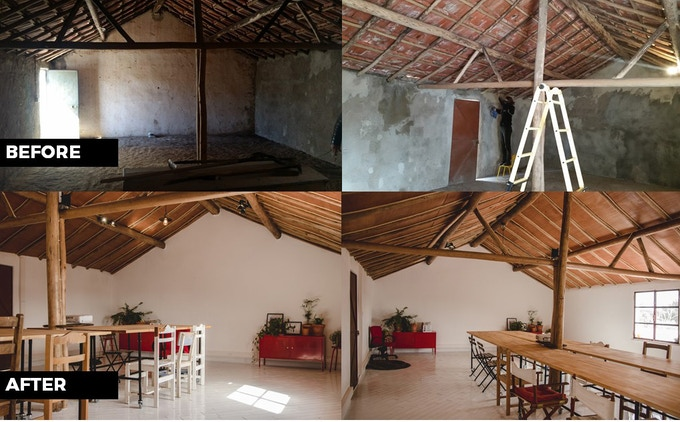 The transformation of the grainstore into the classroom
