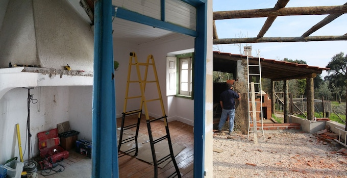 Renovating the farmhouse