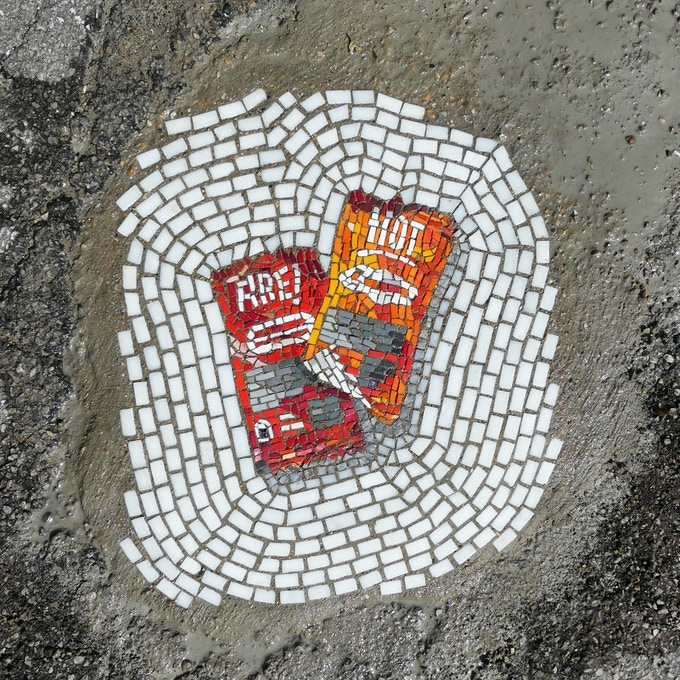 """Hot Sauce Packets"" from the ""Pretty Trashed"" series."