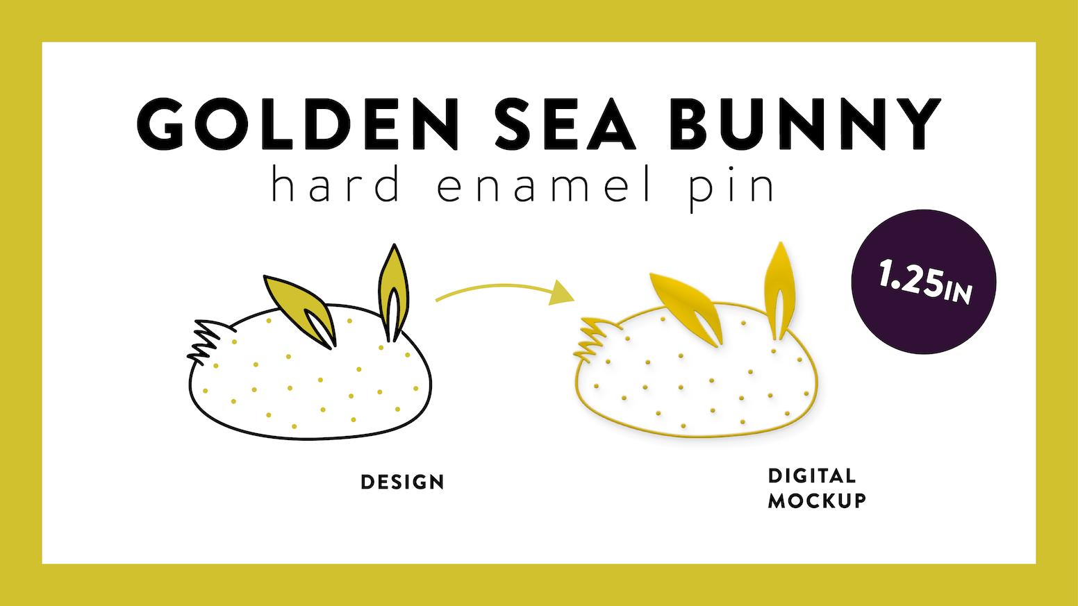 Sea Bunny - Gold Plated Enamel Pin by BebeZee — Kickstarter