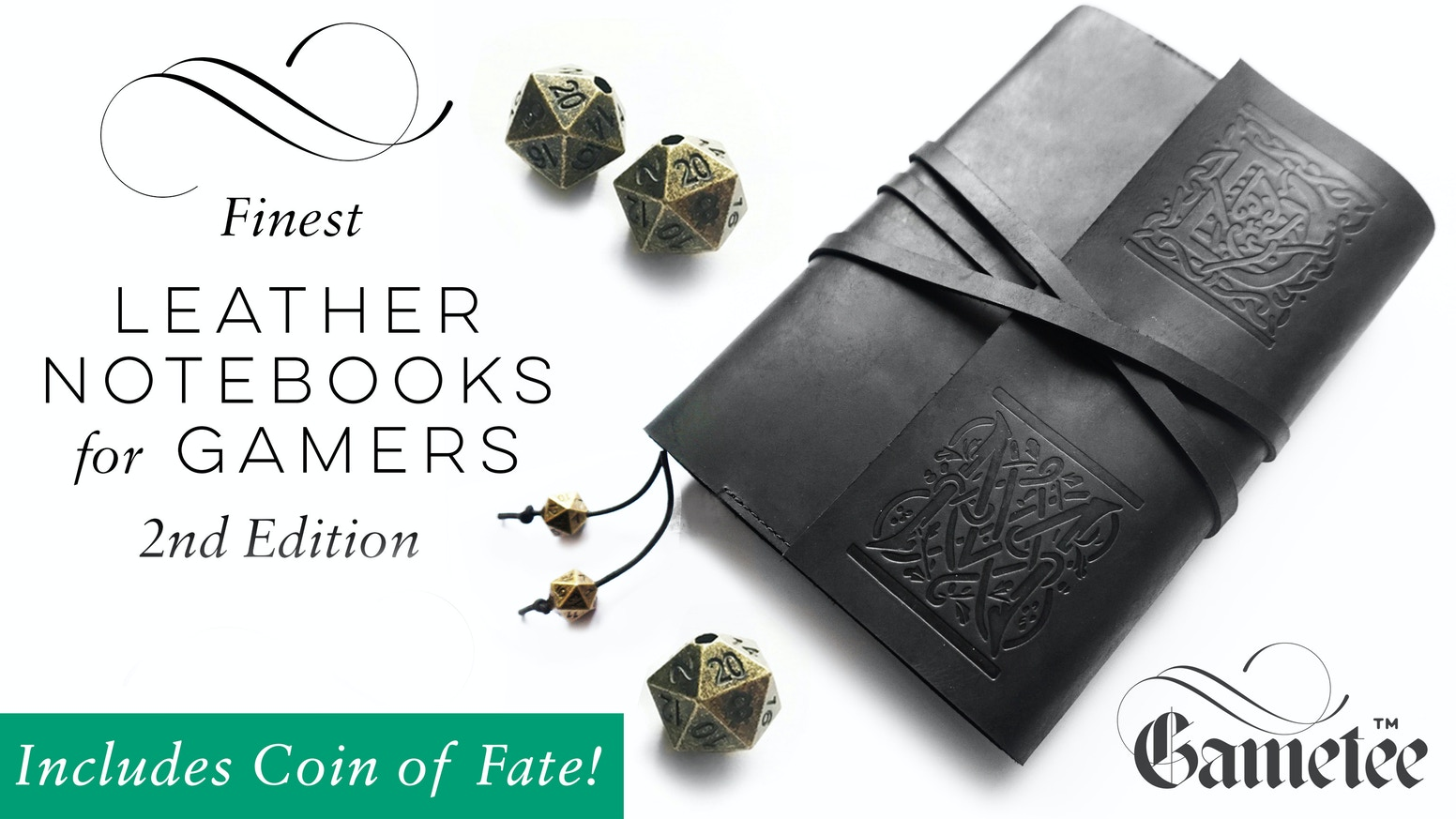 ALL NEW Refillable Leather Gaming Journals to assist you in creating masterful, memorable tabletop campaigns.