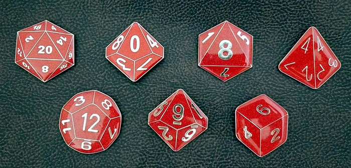 RPG Dice Enamel Lapel Pins and Magnet Sets for Gamers by Pinheads