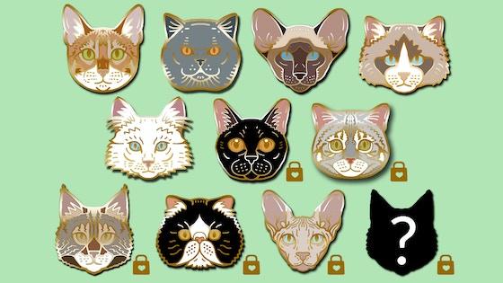 Feline Friends - cat breed enamel pins by Clorty Cat