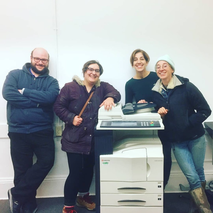 Taken shortly after we moved our copier up a flight of stairs and into our space!
