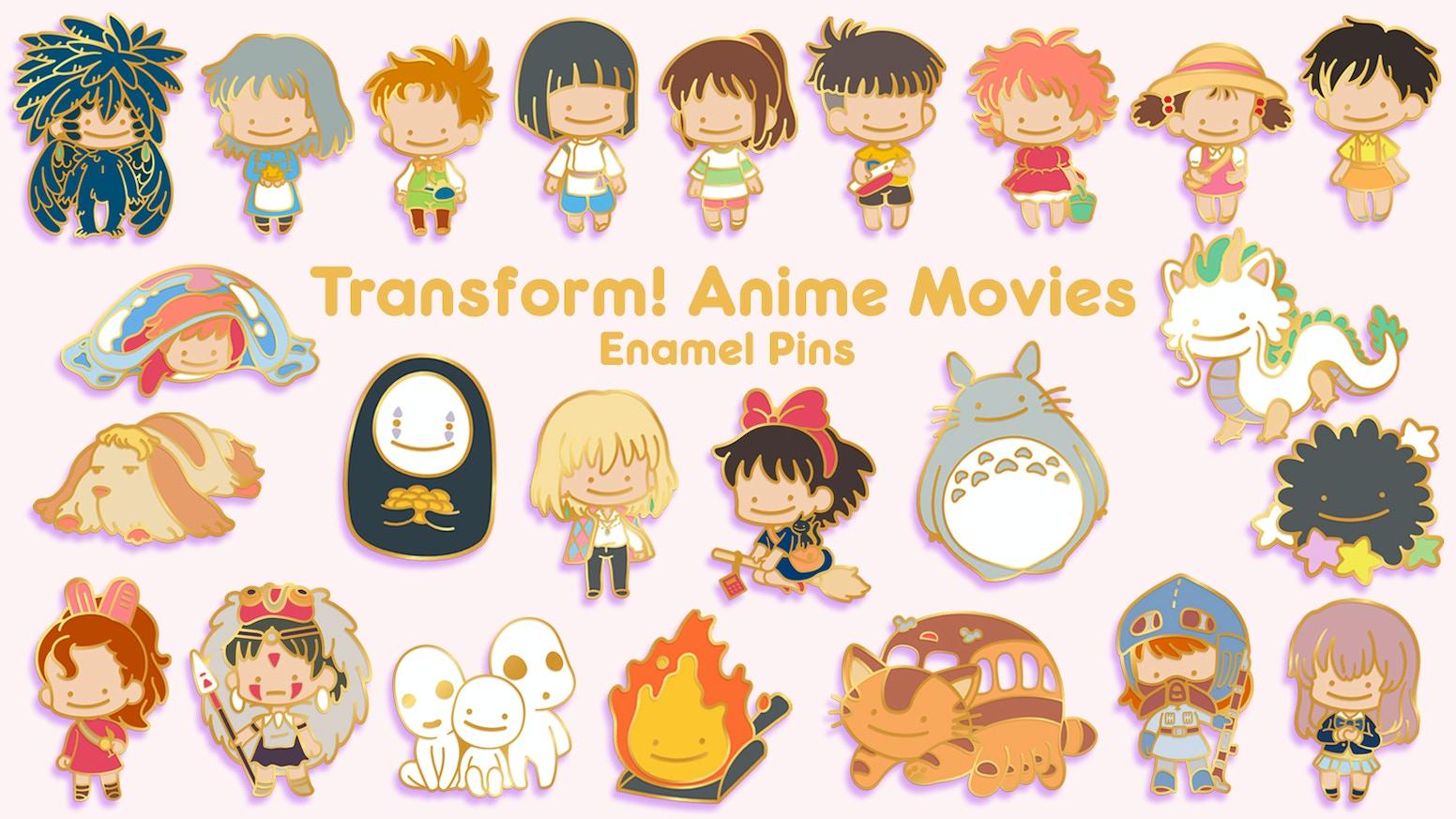Cotton Candy Pomeranian Kawaii Anime Enamel Pin Lapel Pin