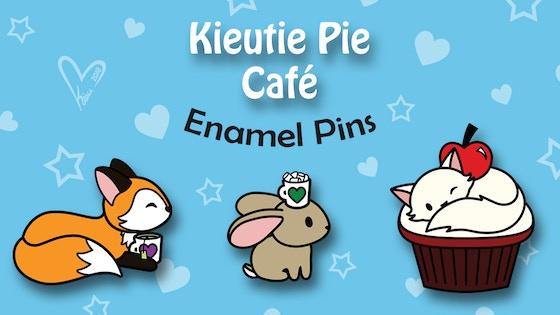 Kieutie Pie Hard Enamel Pins