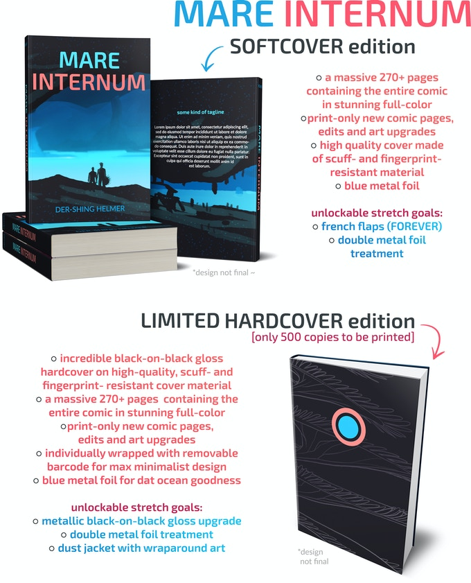 wrow! Thanks to overwhelming response, the number of available hardcovers has been increased :]