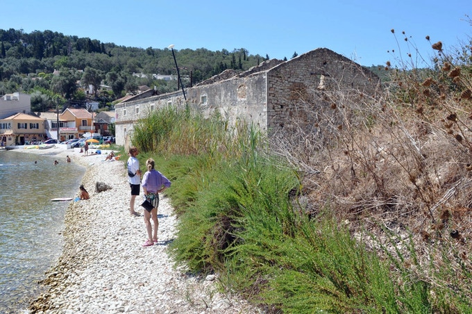 Location scouting in Loggos with Leonid Keller