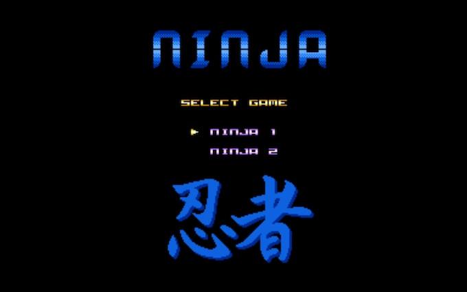 Ninja I & II Title Screen