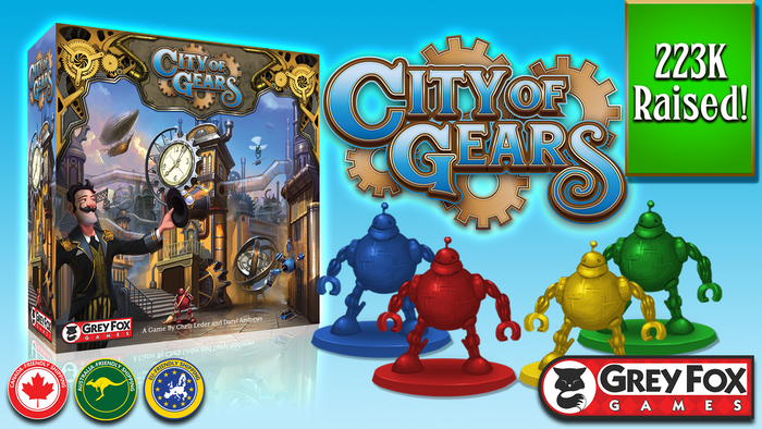 City of Gears, a Game of Discovery, Development & Disruption is the top crowdfunding project launched today. City of Gears, a Game of Discovery, Development & Disruption raised over $223642 from 3146 backers. Other top projects include Sculptwear - The Next Generation of Shapewear by HoneyLove, The NOMATIC Messenger and Laptop Bags, Deadwood 1876: A Safe-Robbing Game of Teamwork & Betrayal...