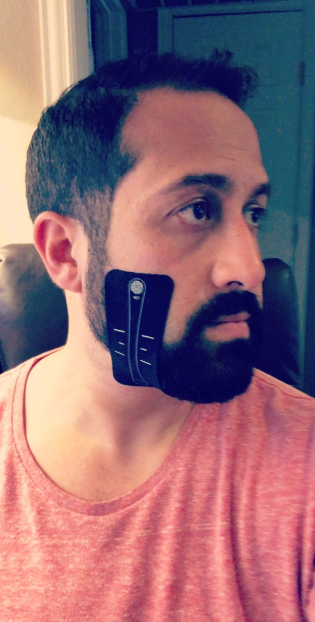 Comfortable and no grip loss with a beard.