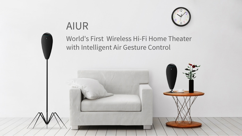 AIUR-Your Premium Wireless Home Theater with Gesture Control Project-Video-Thumbnail