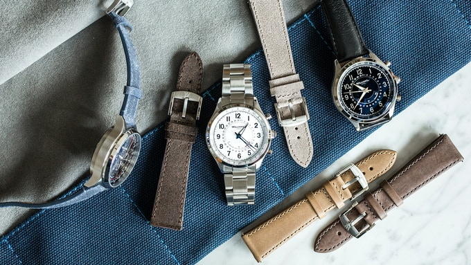 Family Portrait with Automatic Chronograph, Chrono Smartwatch and Our New Straps