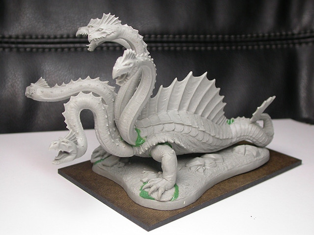 A pic of the first Hydra, assembled and ready for                painting.