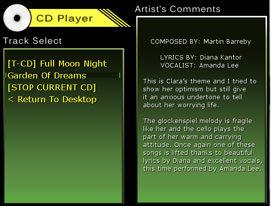 CD Player with composer comments added.