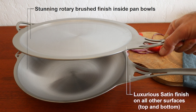 Our USA nöni cookware is finished the same as our acclaimed Australian nöni cookware: Satin luxury!