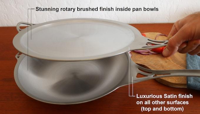 Our USA nöni cookware is finished the same as our acclaimed Australian nöni cookware: Satin luxury!