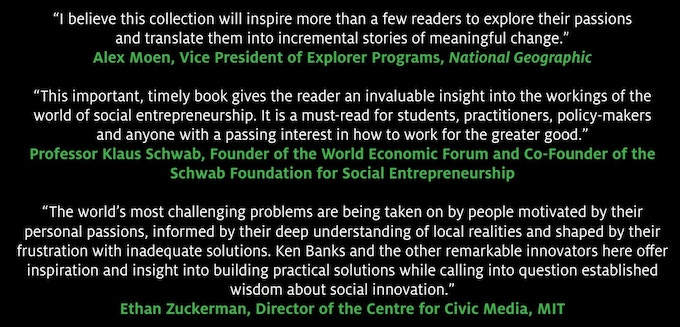 """Social Entrepreneurship and Innovation"" received some great endorsements"