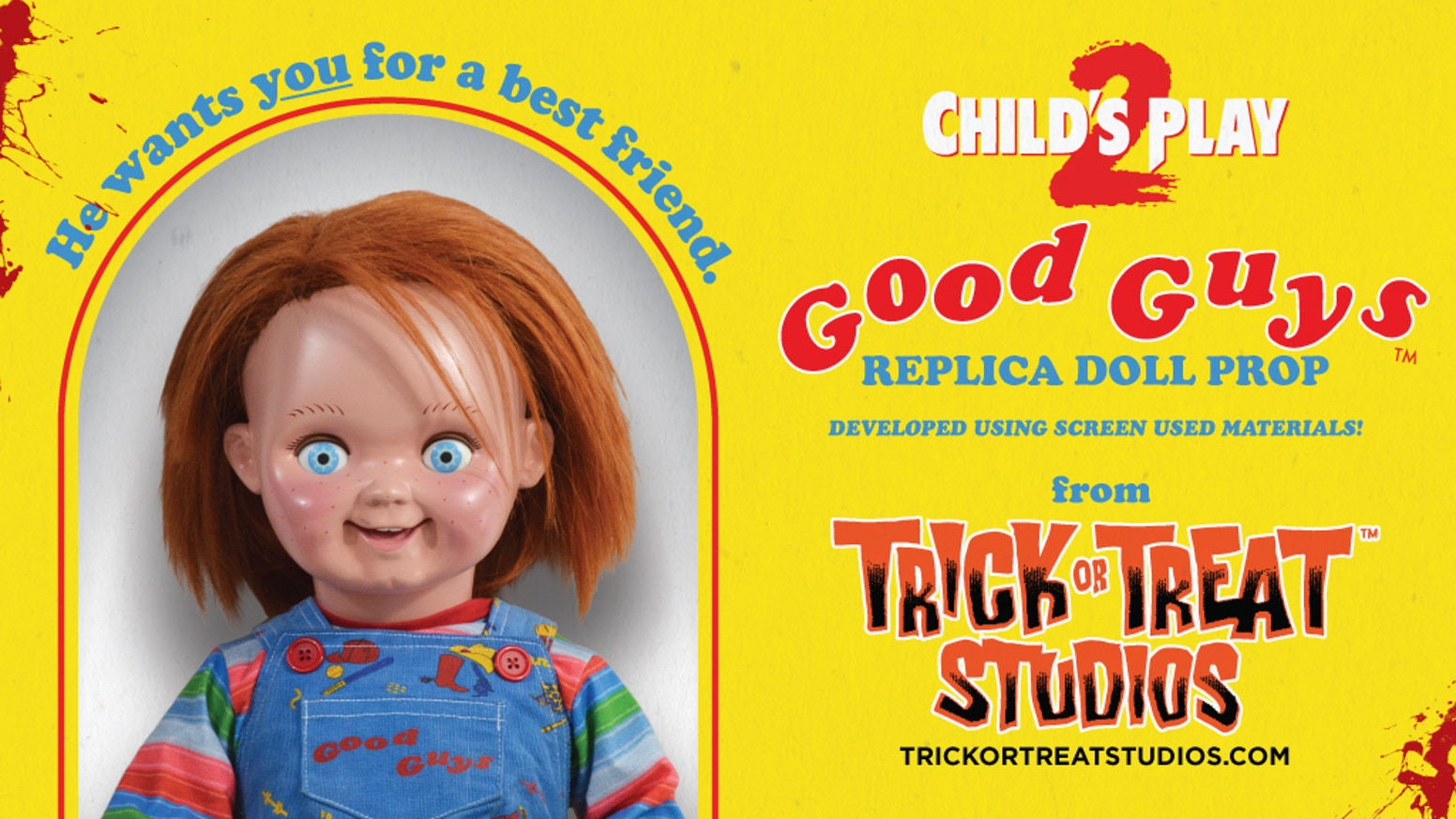 One to one scale Child's Play 2 - Chucky Doll