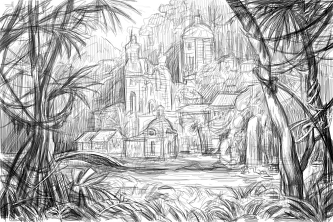 Early Sketch of the Storybook Empire
