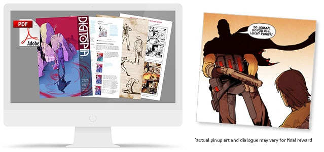 Deluxe digital edition of Digitopia issue 1 & Talking Pin-up