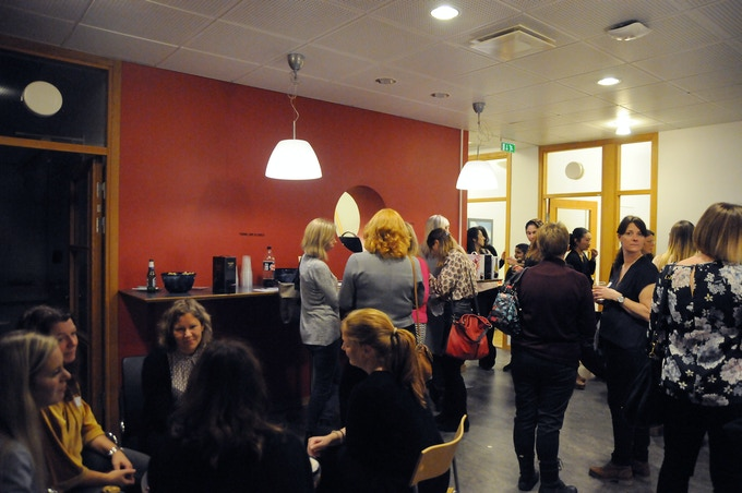 Women networking at our first event