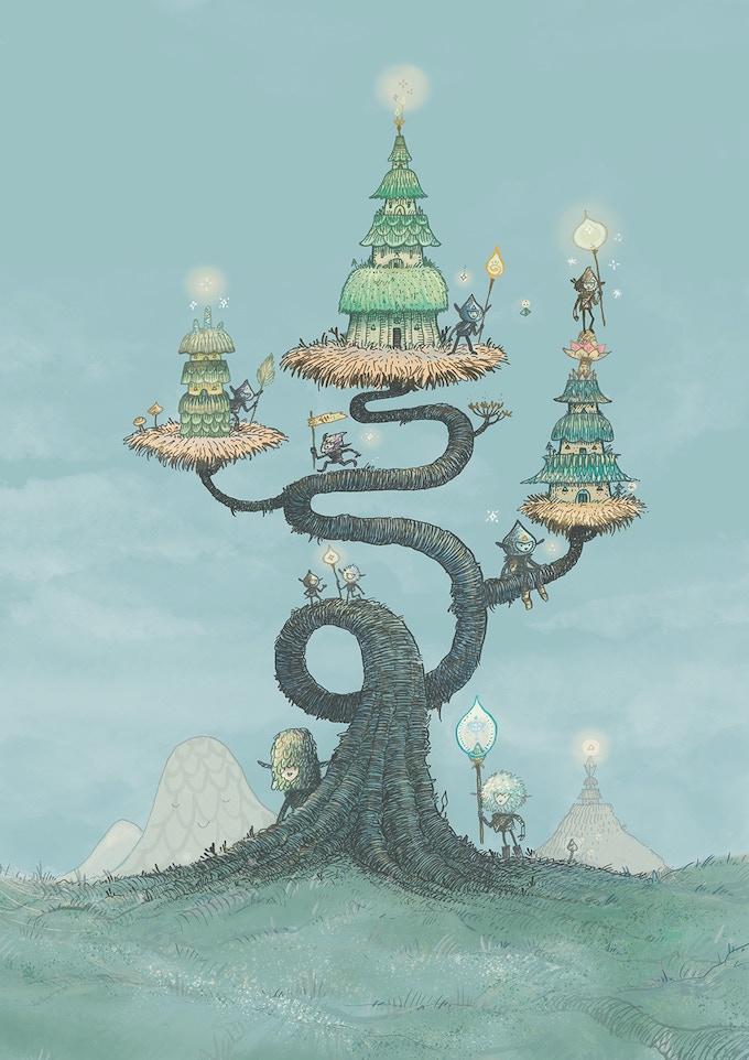 Muju Spirit Houses - Limited Edition Print