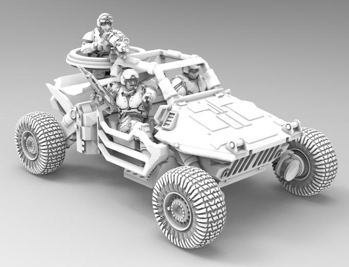 Jeip ground attack vehicle