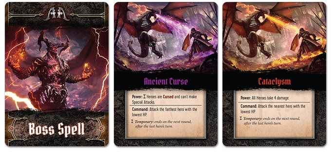 Boss Spell cards adapt to the peculiarities of Boss Fights, bringing new situations to the table.