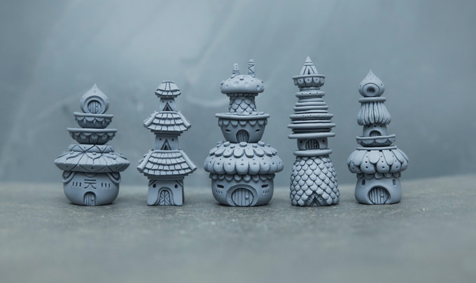 Muju Spirit House sculpts ready for moulding