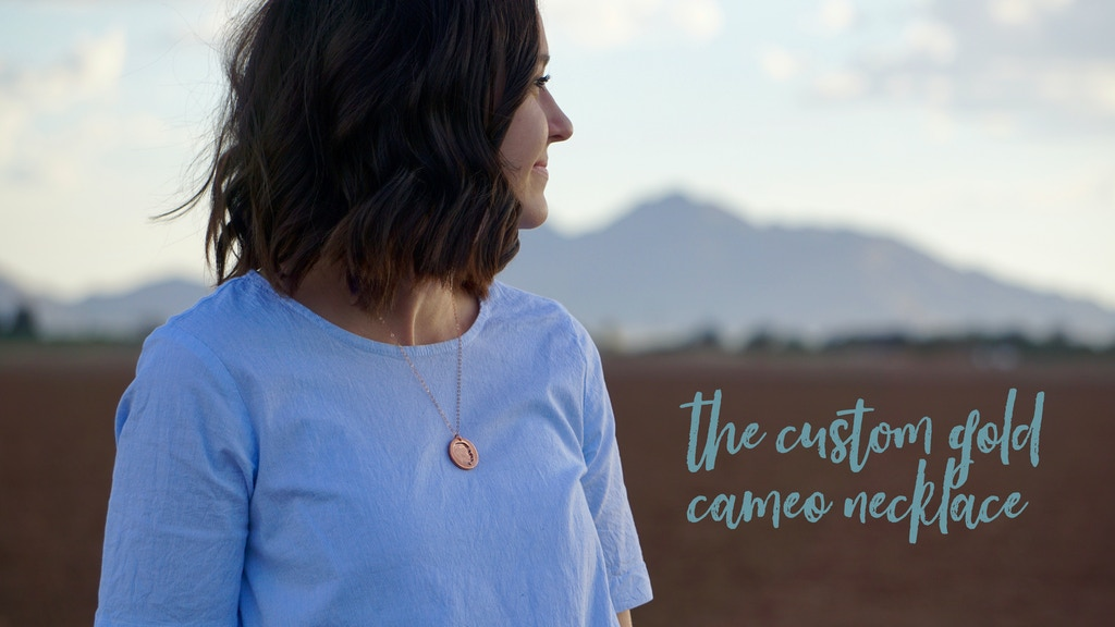 The Custom Gold Cameo Necklace: A perfect Mothers Day Gift