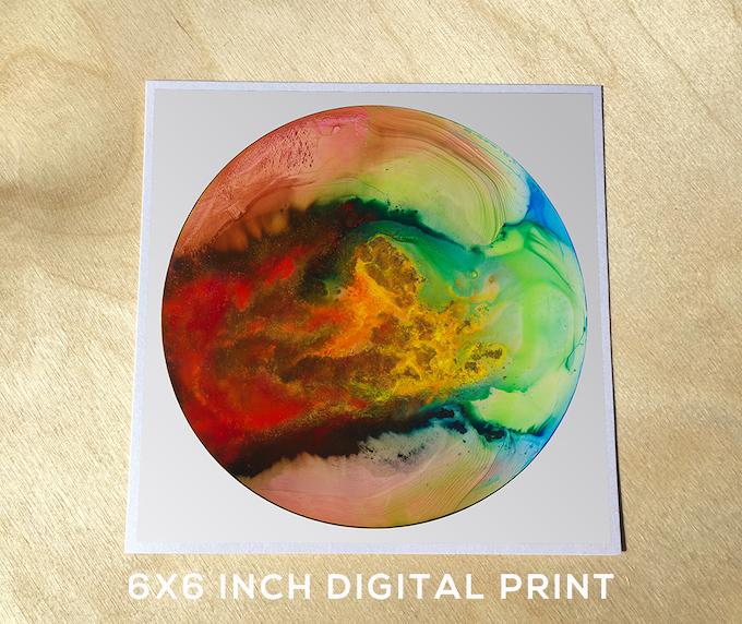 6x6 inch digital print