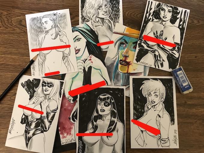 REWARD 13: Random art postcard by either DAVE JOHNSON-AMANDA CONNER-JIMMY PALMIOTTI AND A MYSTERY GUEST.