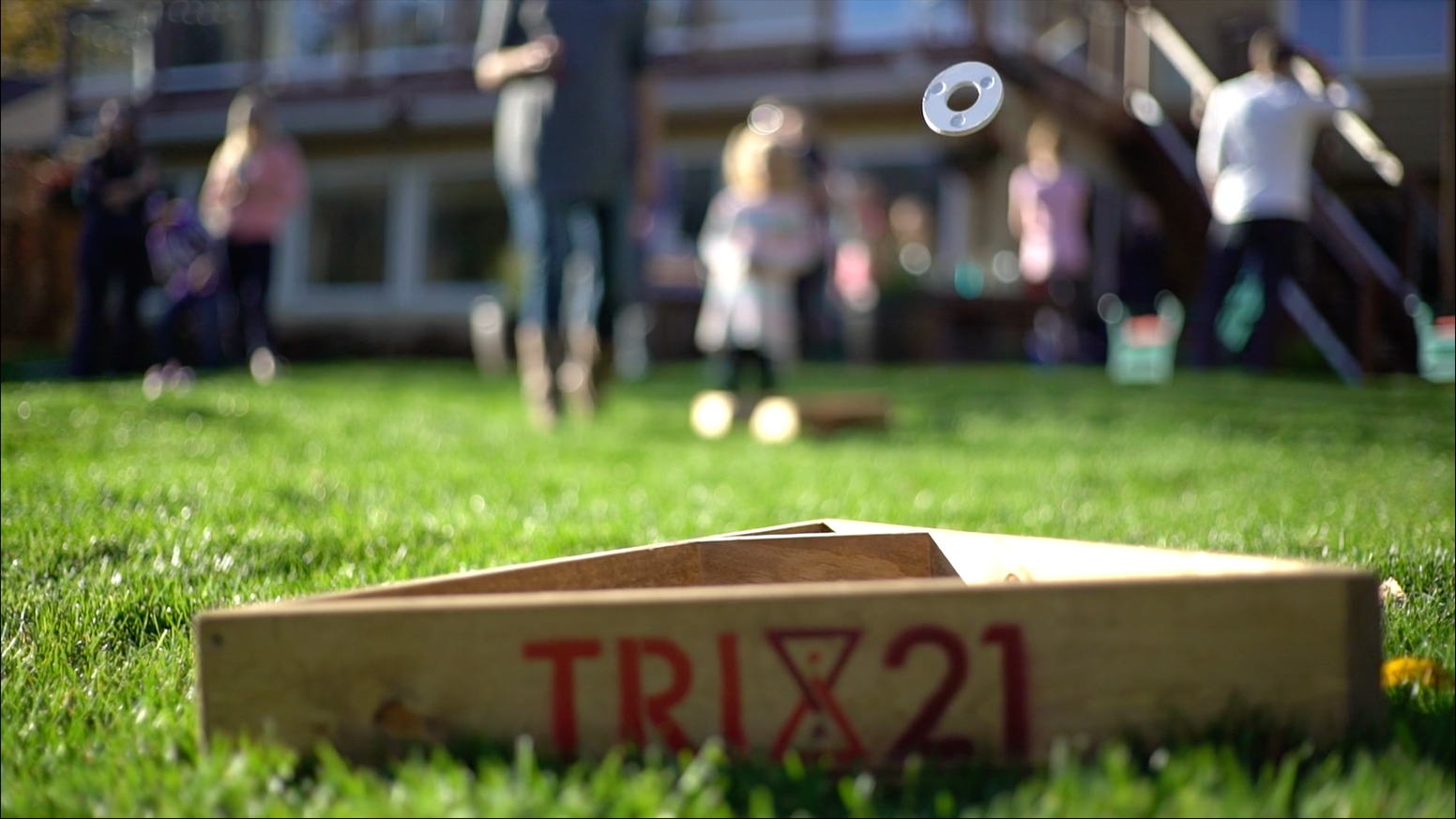 Tri 21: The Latest lawn game bringing family, friends and the outdoors together—healthy relationships built from quality time together.