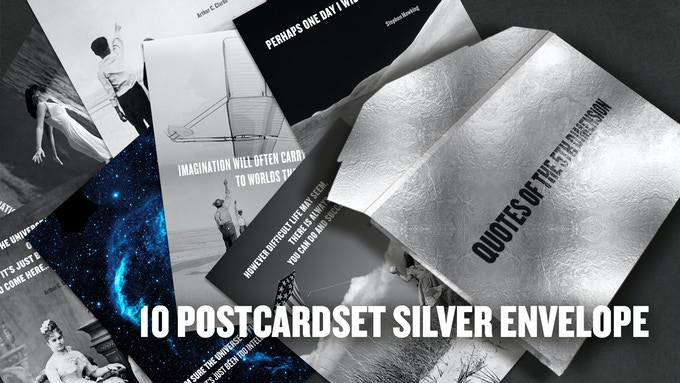 Postcardset with 10 Quality Cards in a silver Carboard Envelope