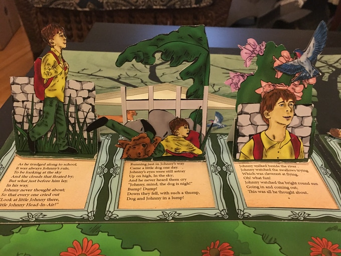 Sample Pop-Up Spread of the Story of Johnny Head in the Air