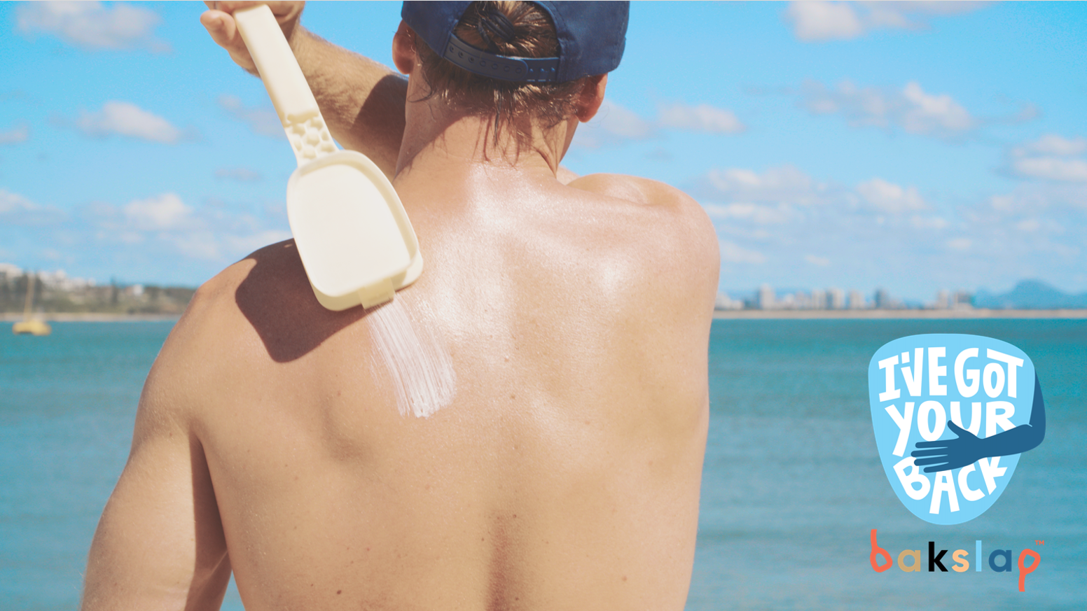 Easily apply sunscreen to all areas of your body, like your back, without the messy hands. We've got your back!