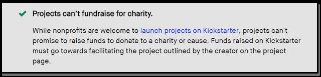 Rule description on KickStarter's web.