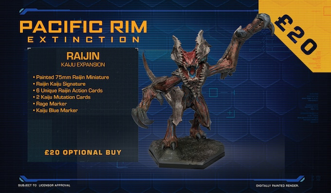 Raijin is the second of only two Category V Kaiju ever to be encountered by humanity. Its head possesses unique shield-like plates which act like a monstrous Venus flytrap.