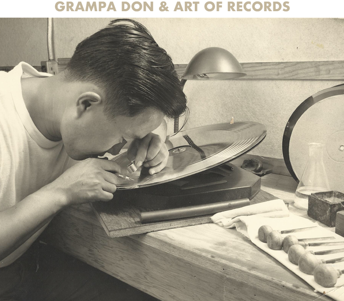 Grampa Don @ Columbia Records. Circa 60's