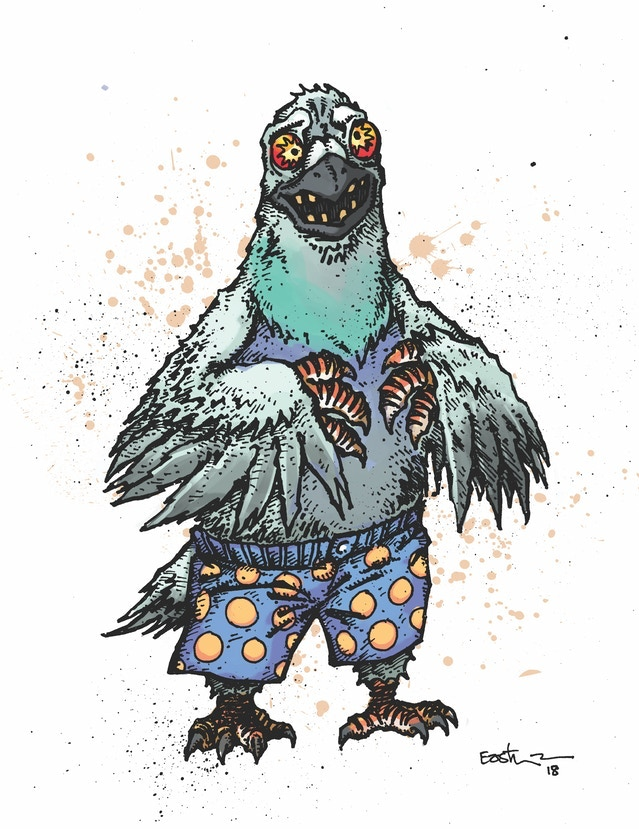 Pigeon Pete - Full Color Art
